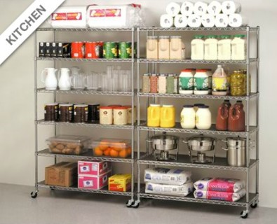Wire Shelving for Your Home Kitchen Storage