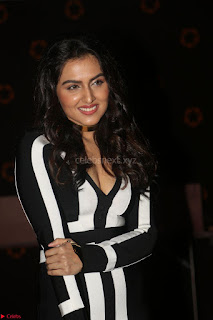 Ananya Soni in a Deep neck white blackl Dress at Shamanthakamani pre release function ~  Exclusive 083.JPG