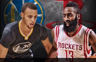 Stephen Curry and James Harden