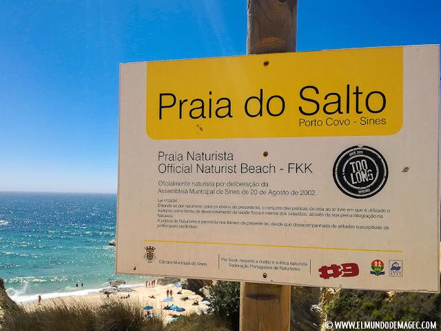 playas-del-alentejo. Playa de Salto en Porto Covo.