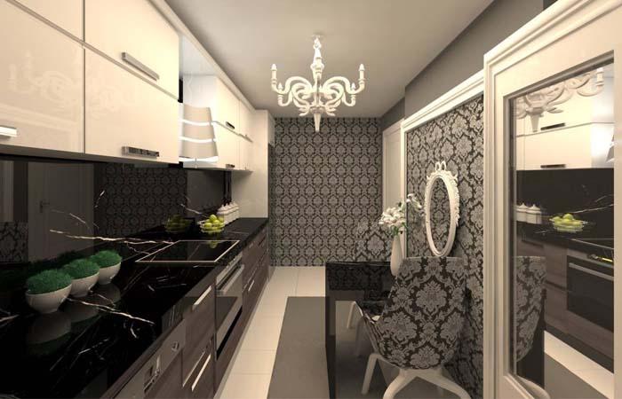elegant mutfak duvar kağıdı örneği