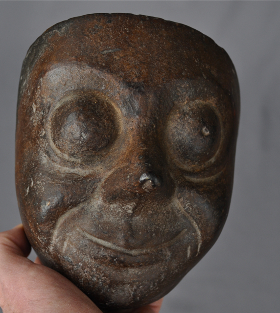 Old Clay Mask Mold