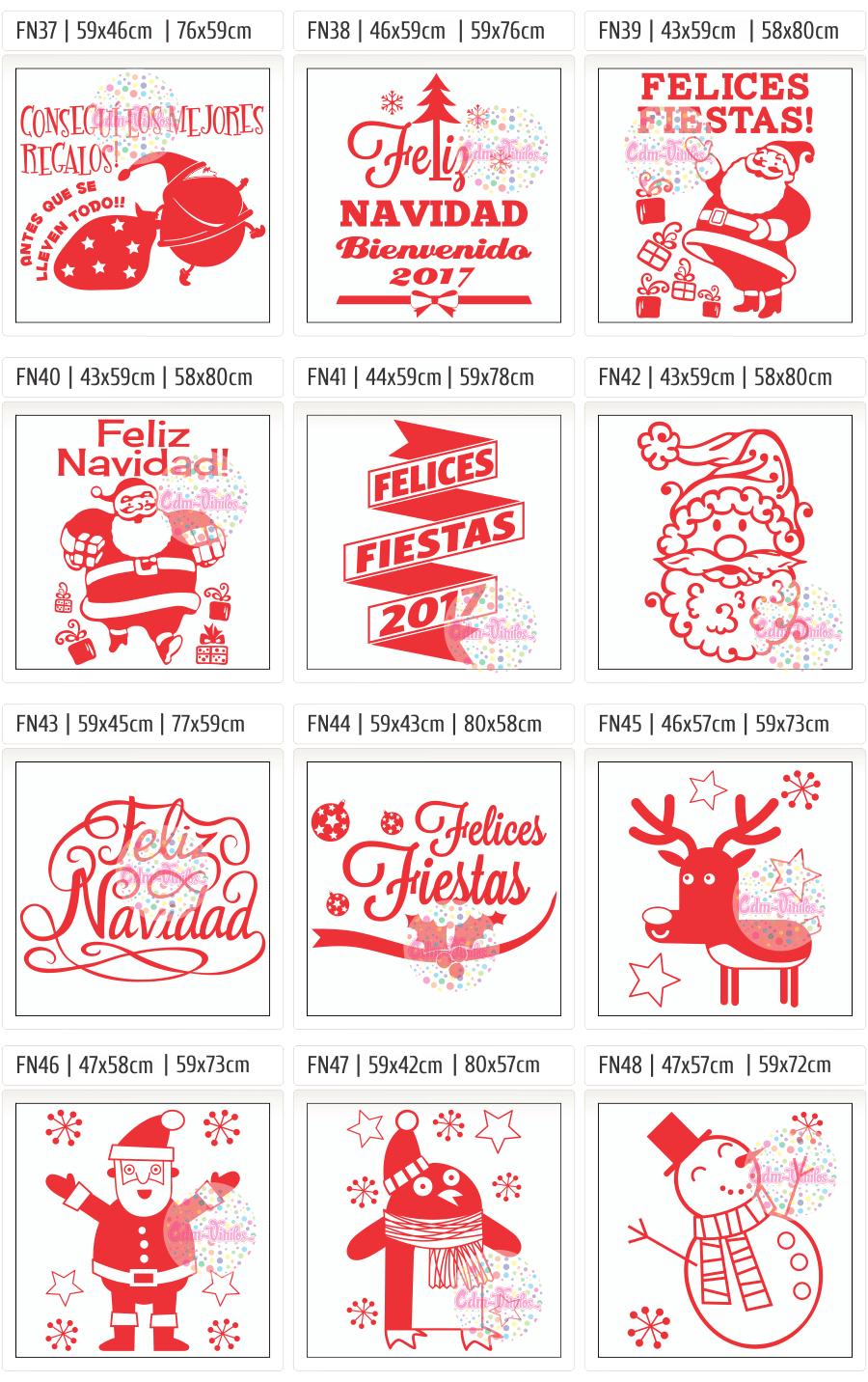 Vinilo para vidrieras, vidrieras navideñas, vinilos navidad, Año Nuevo 2017, carteles, negocios, ploteos, vinilos locales