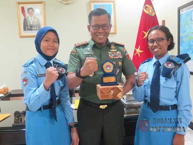 Suko Pranoto Terima Kunjungan Siswi SMA Taruna Nusantara