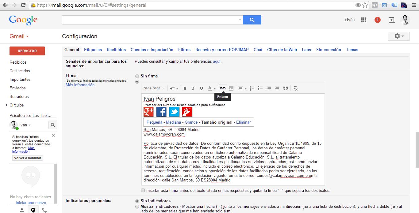 Crea tu firma de correo personalizada 4