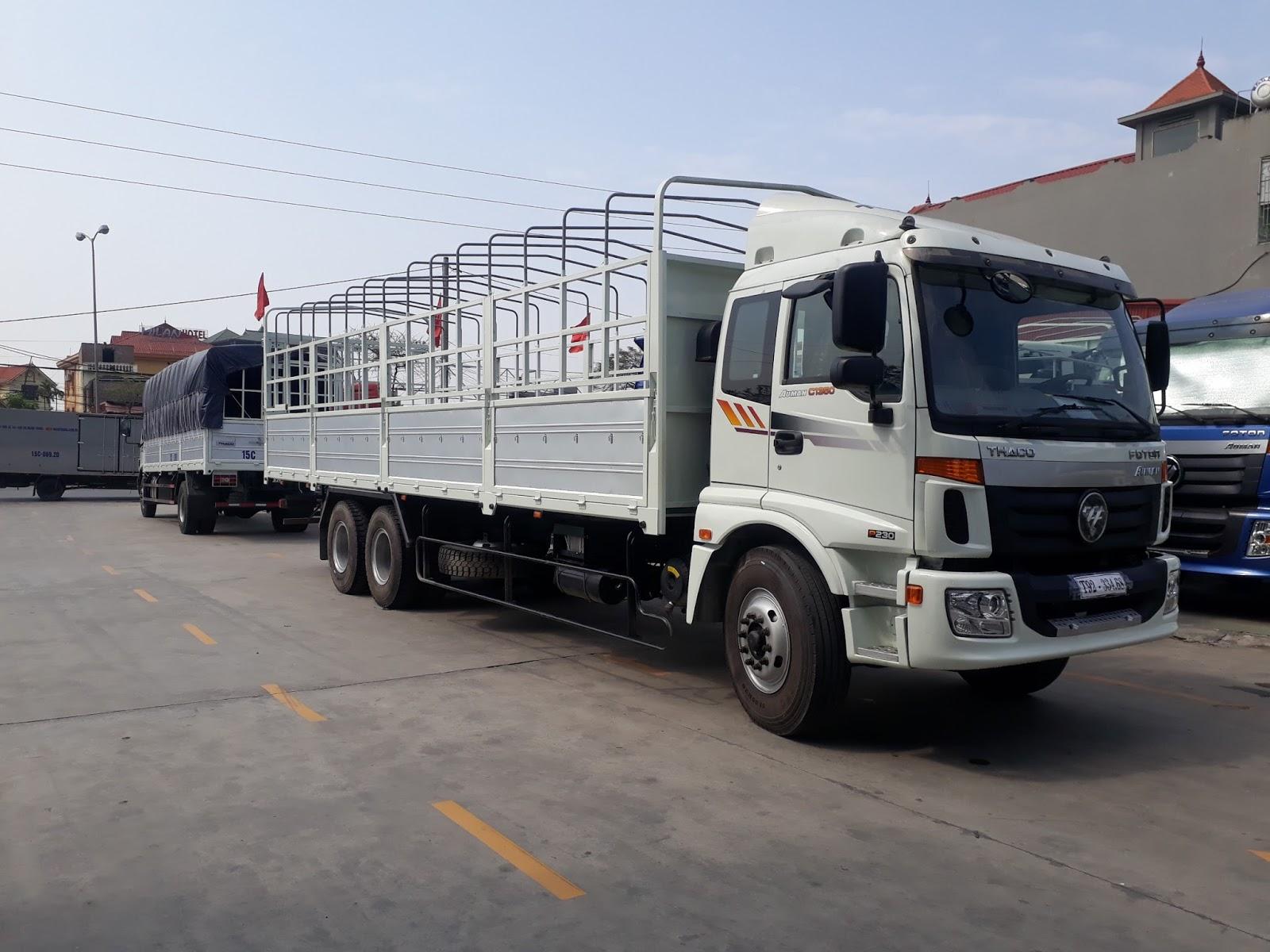Giá xe tải 3 chân Thaco Auman AC1350  tốt nhất tại Hải Phòng