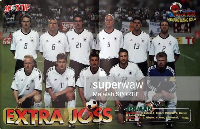 GERMANY TEAM SQUAD 2002 DEUTCHLAND