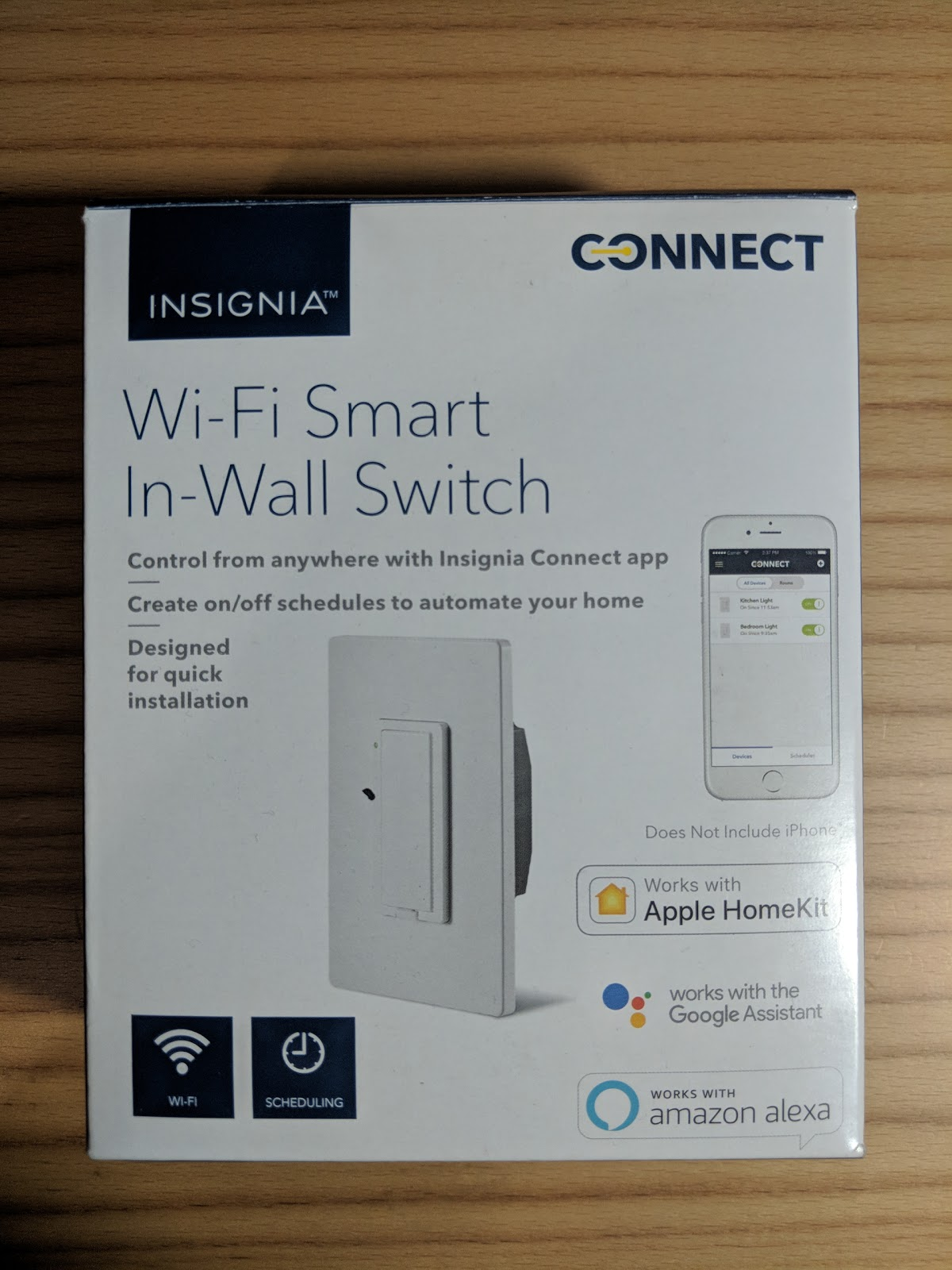 home automation review insignia wi fi smart in wall switch updated. Black Bedroom Furniture Sets. Home Design Ideas