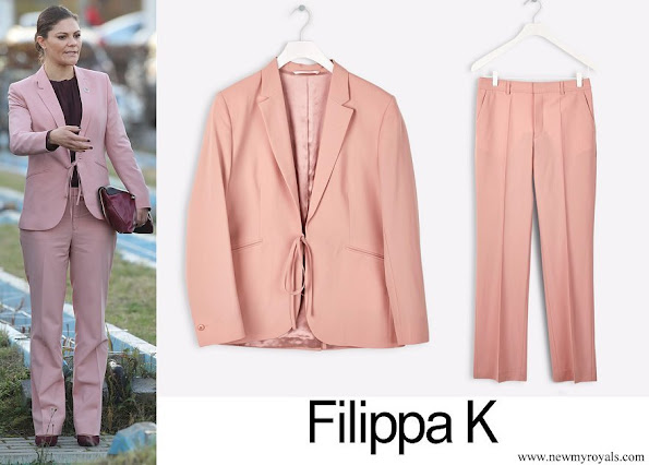 Crown Princess Victoria wore Filippa K blazer and trousers suit