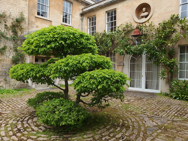 Entrance courtyard at Belcombe Court