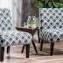 Kendal Blue/Navy Fabric Accent Chair (Set of 2)