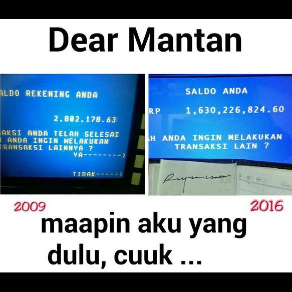 Meme Dear Mantan Atm Arsip Korupsi