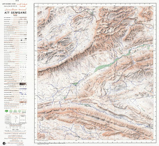 Ait-SEMGANE Morocco 50000 (50k) Topographic map free download