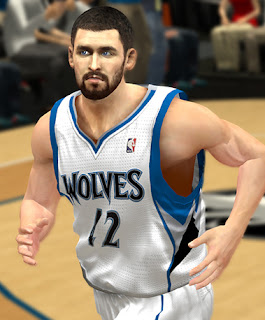 NBA 2K13 Kevin Love Cyber Face Patch Buzz cut