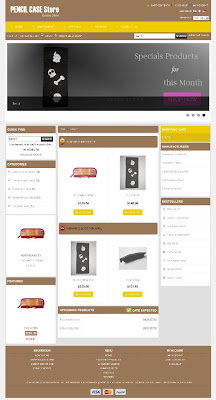 Free osCommerce 2.3.3 Template for Pencil Case Store
