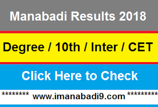 Manabadi Results 2018 for Manabadi Degree Results 10th Inter CET Results 2018