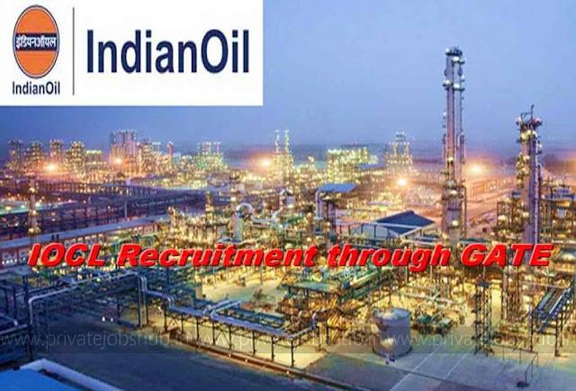 IOCL Recruitment through GATE