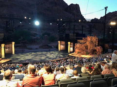 "Waiting in the Tuacahn Amphitheater for the start of ""The Prince of Egypt"""