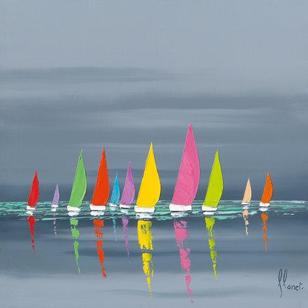 Regata - Frédéric Flanet e suas belas pinturas com paisagem de praias