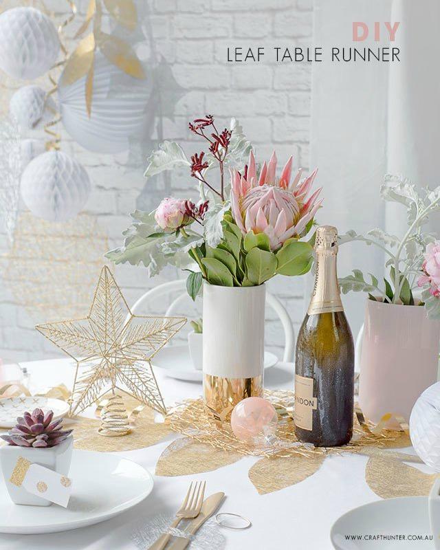 New Year tutorial para decorar la mesa de Fin de Año
