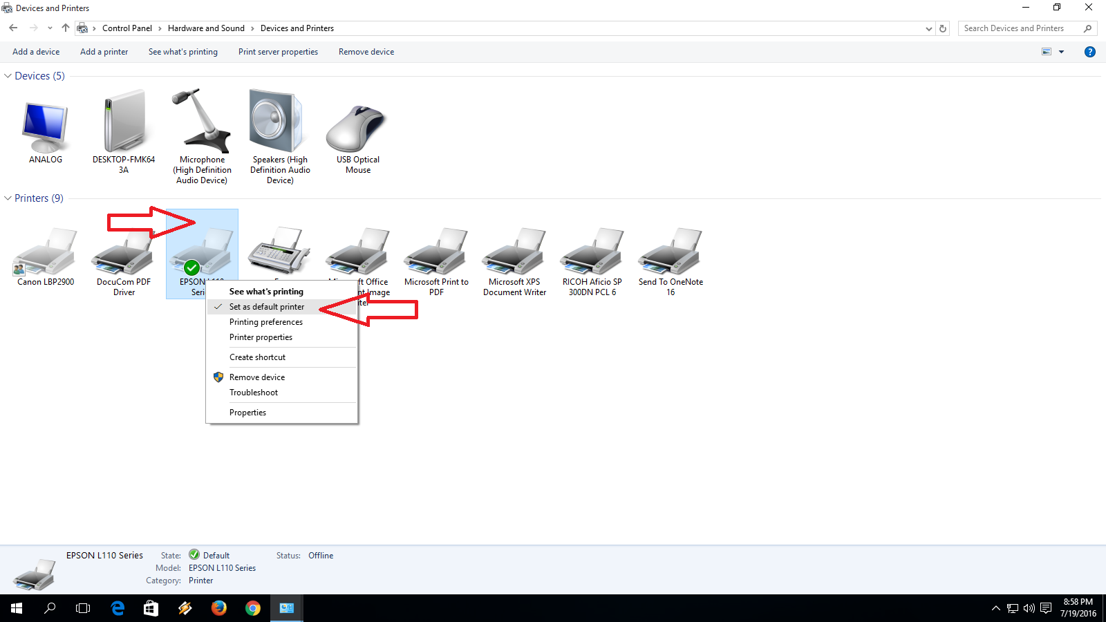 Learn New Things: How to Set Printer as a Default Printer in Windows