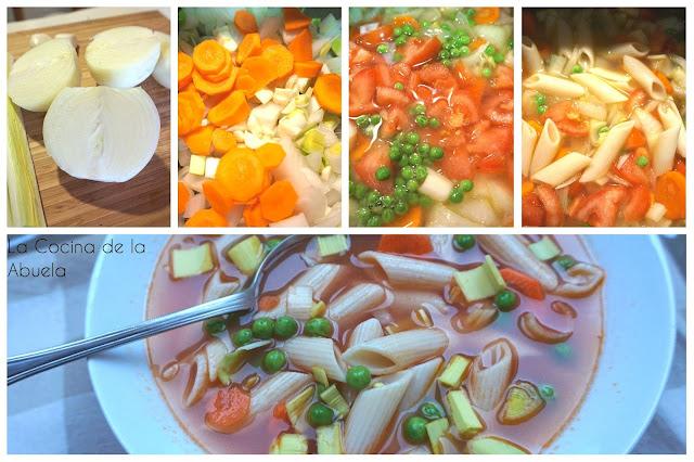 Sopa Minestrone, sopa de verduras