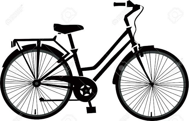 Black Bicycle Vector Stock Vector