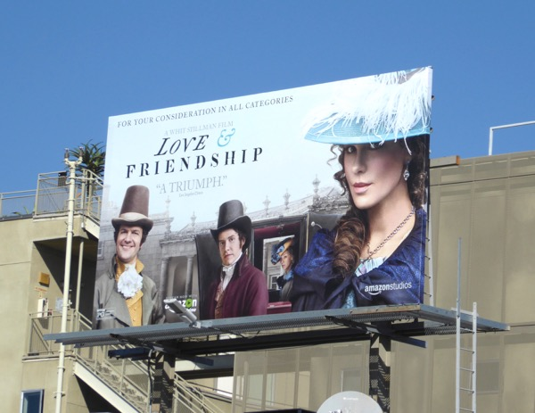 Love and Friendship movie billboard