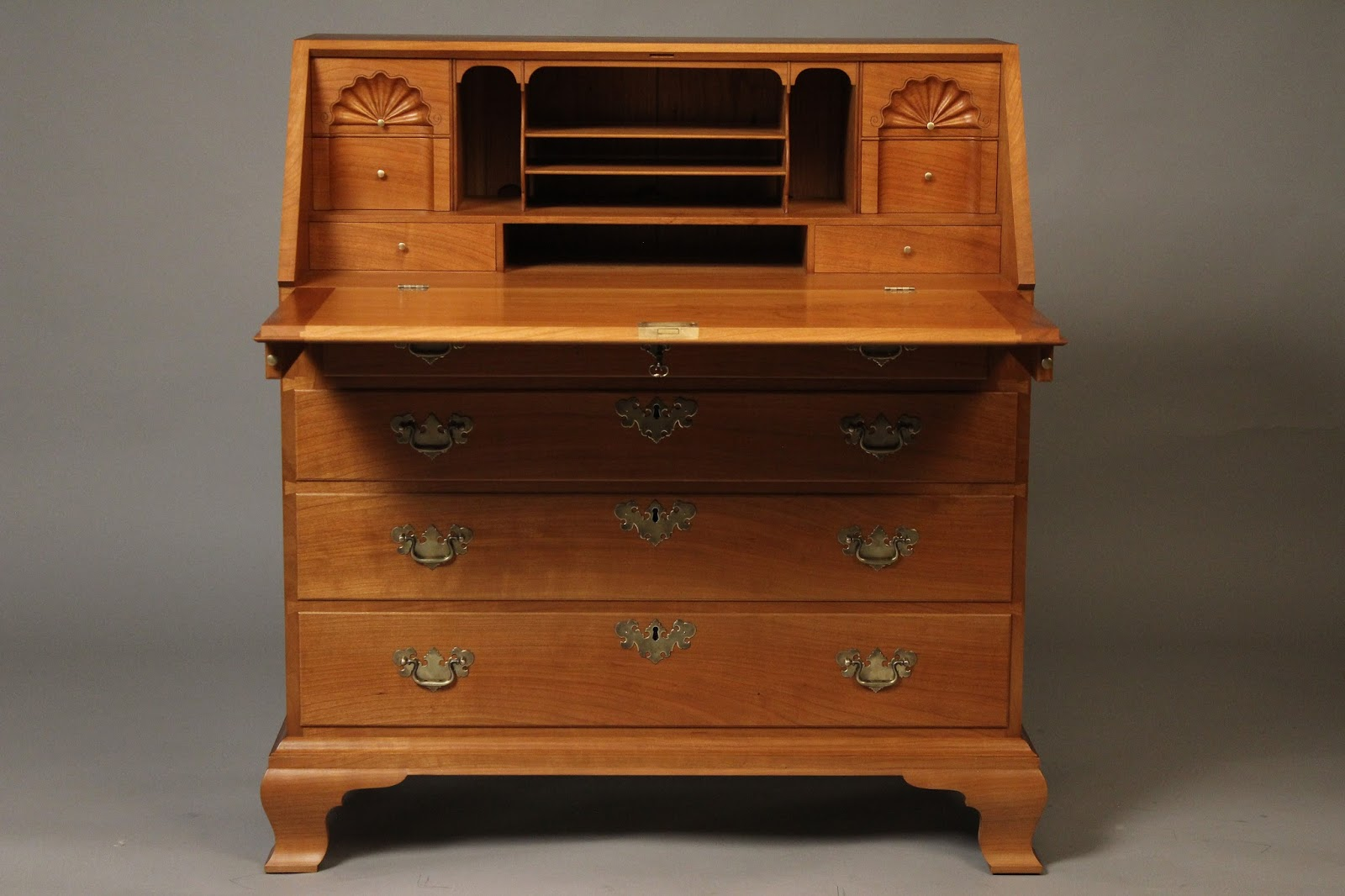 Queen Anne Slant Front Desk Doucette and Wolfe Furniture Makers