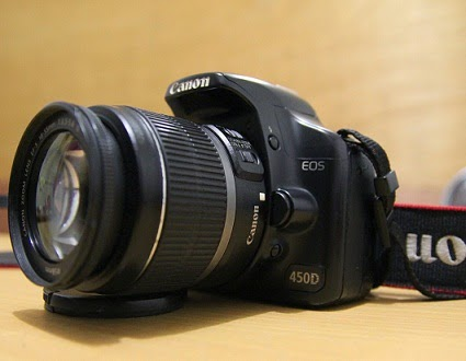 jual canon eos 450d + kit