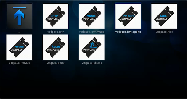 تركيب إضافة VodPass iptv لمشاهدة أفضل القنوات العالمية على برنامج KODI