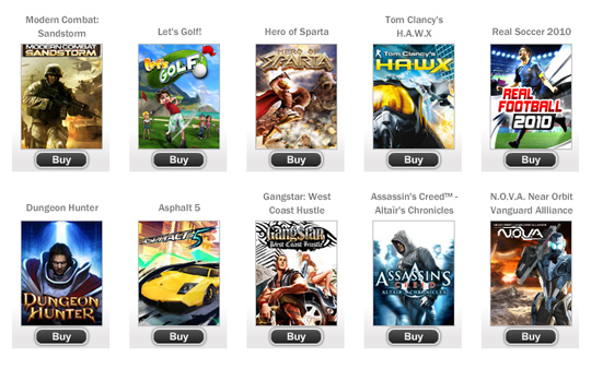 All gameloft android games download