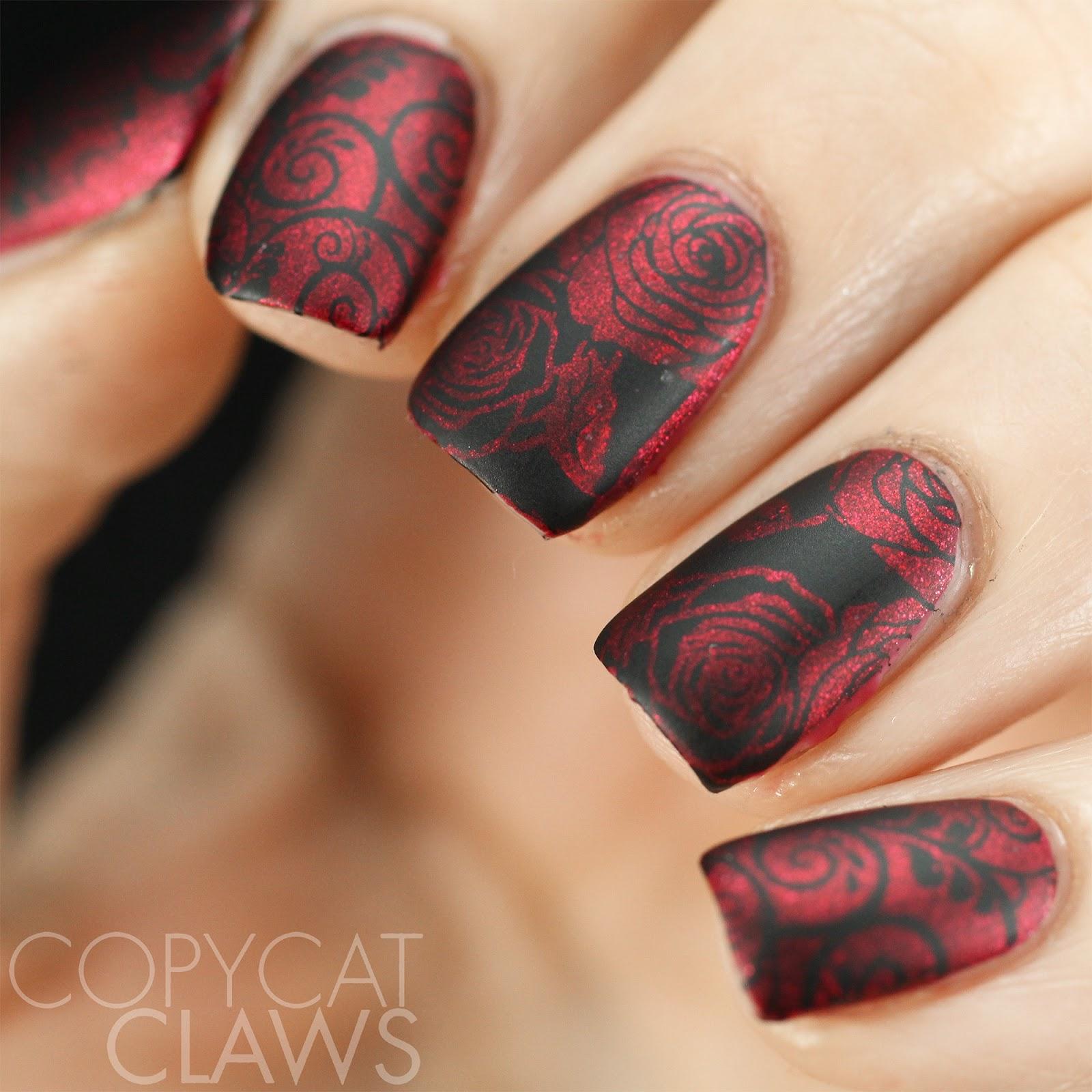 Copycat Claws: Nail Crazies Unite - Red & Black