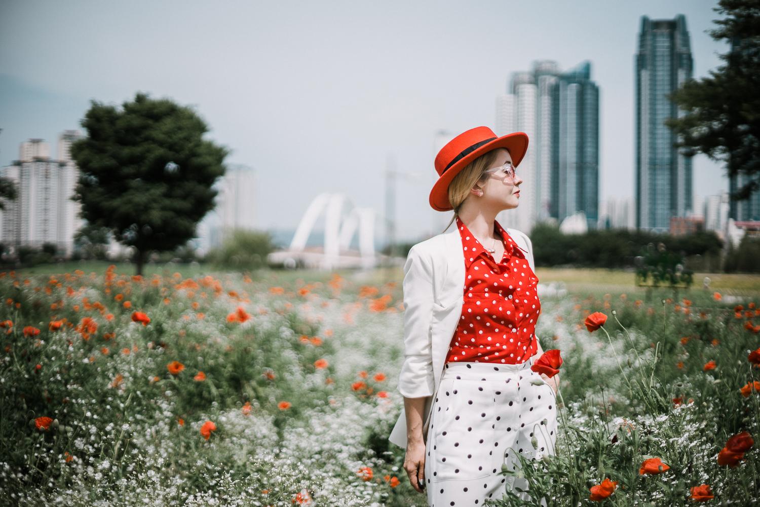 How to mix two polka dot prints - My Blonde Gal