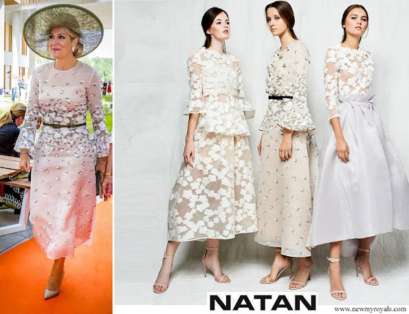 Queen Maxima wore Natan Lace Dress 2018 collection