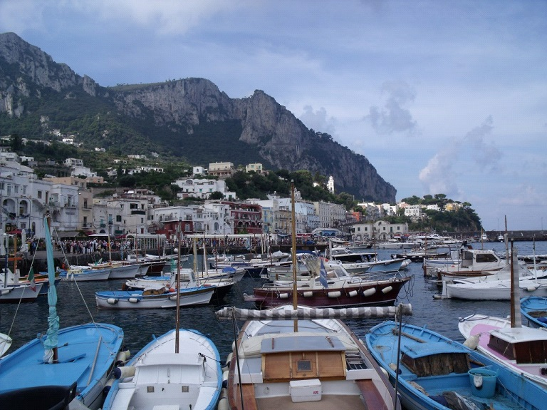 Marina, Capri, italy, caprese, getting to capri from Sorrento, from Naples, travel, sea stacks, view,