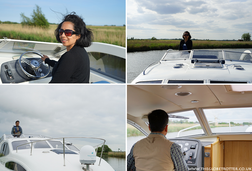 Enjoying a boating holiday on Norfolk Broads