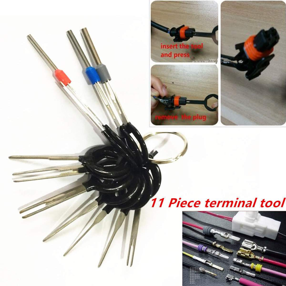 Wire Harness Tool Set Wiring Library Car Crimper 11 Pcs Auto Plug Circuit Board Terminal Extraction Pick Connector Crimp Pin Back