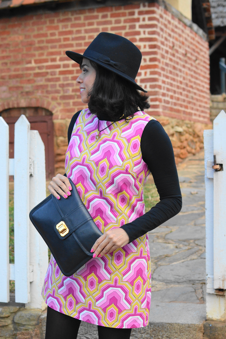 Patterned Shift Dress Outfit Look