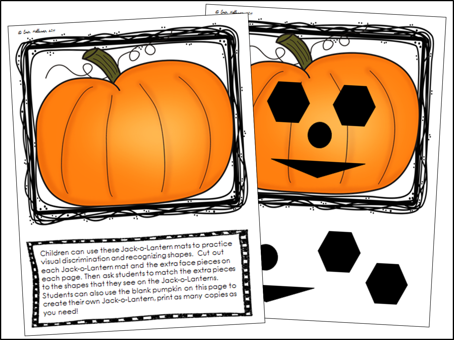 Preschool Ponderings Halloween Shapes And Emotions