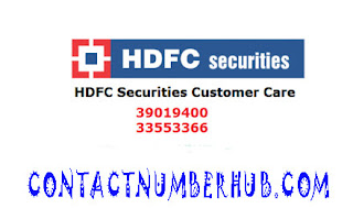 HDFC Securities Customer Care number