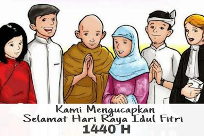 Ucapan selamat hari raya idul fitri terbaru 2019 : Selamat Hari Raya Lebaran 1440 H