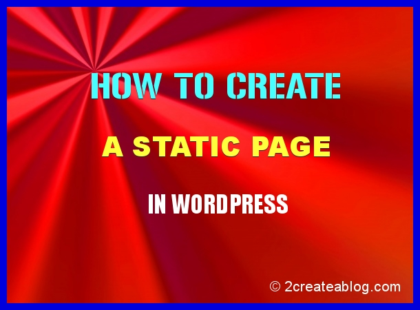 How to Create a Static Page in WordPress
