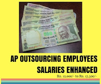 Enhanced salary of outsourcing employees in AP