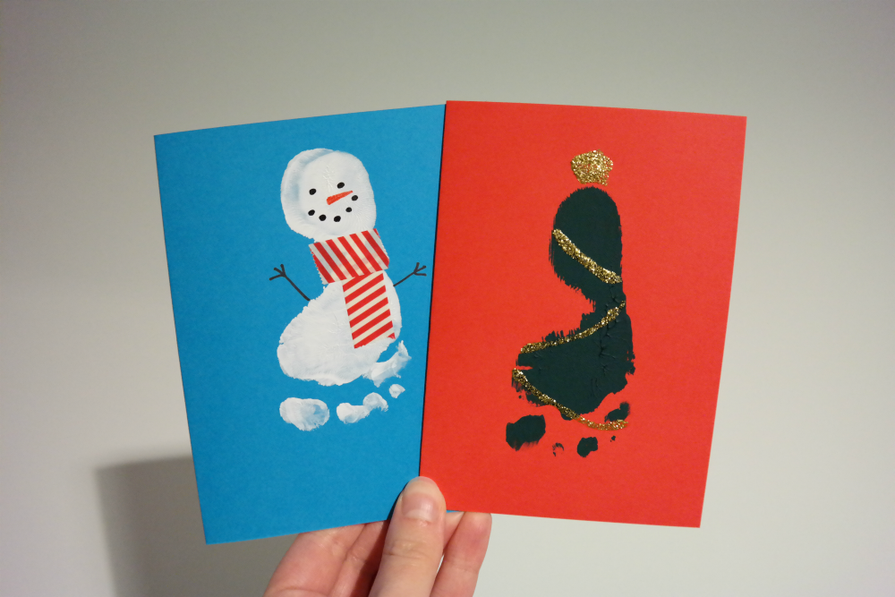 DIY: Baby Footprint Christmas Cards