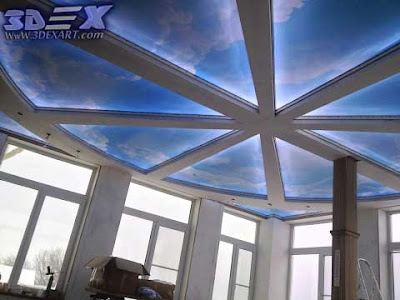 3d ceiling, false ceiling with photo printing, false ceiling 2019
