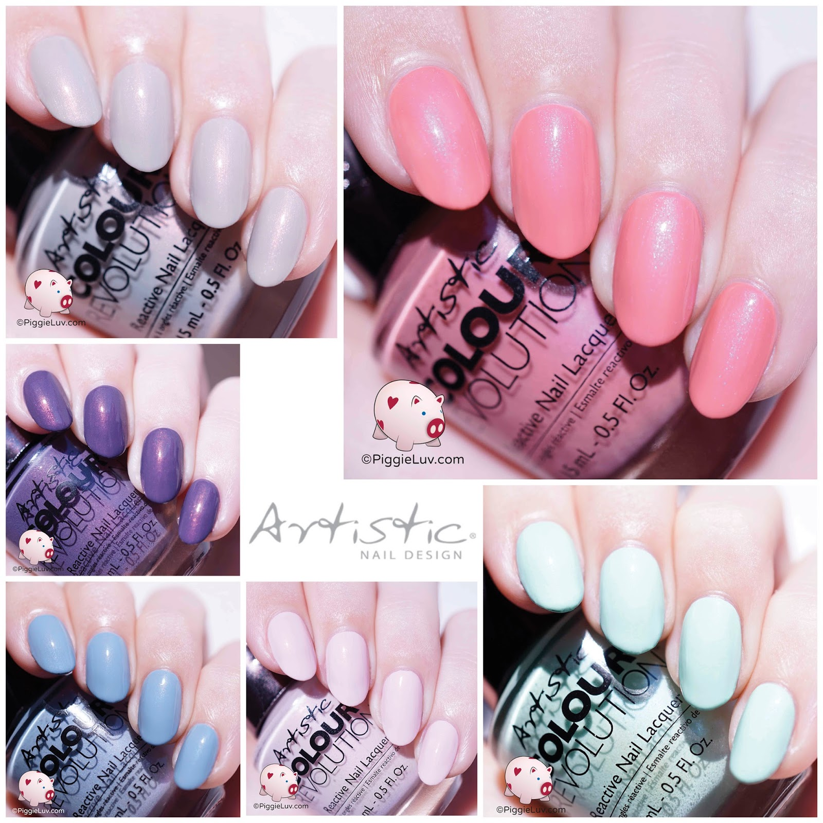 Piggieluv Artistic Nail Design Urban Distressed Collection Swatches