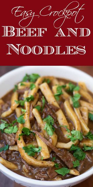 Easy Crock Pot Beef And Noodles