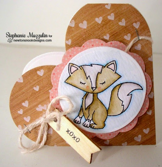 Fox Valentine Card by Stephanie Muzzulin | Sweetheart Tails Stamp set by Newton's Nook Designs