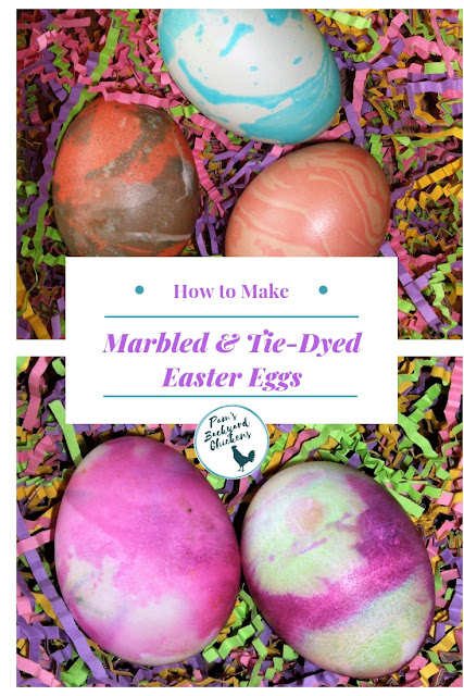 You can make marbled eggs and tie-dyed eggs with everyday ingredients from your pantry. These techniques produce beautiful eggs that look like they came from a fancy egg dyeing kit.